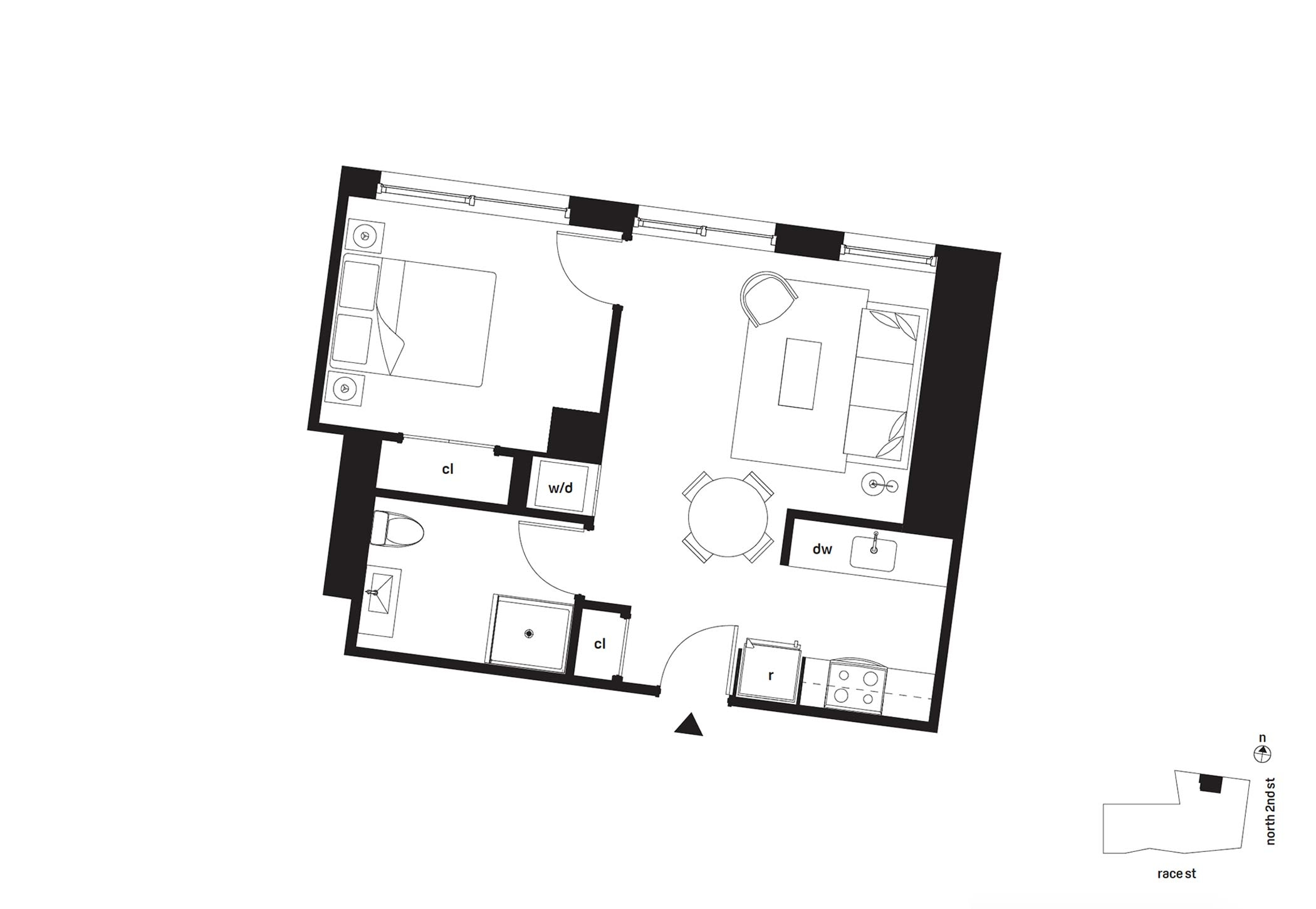 Bridge on Race One Bedroom Floor Plan